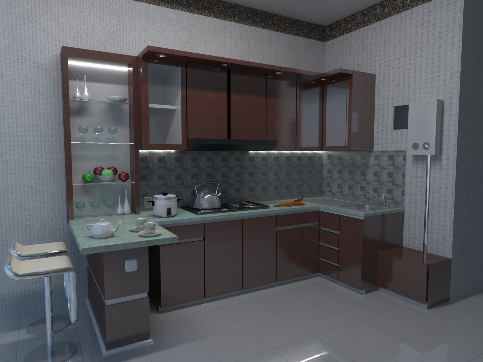 Desain kitchen set ibu iqoh yani bogor jawa for Kitchen set bogor