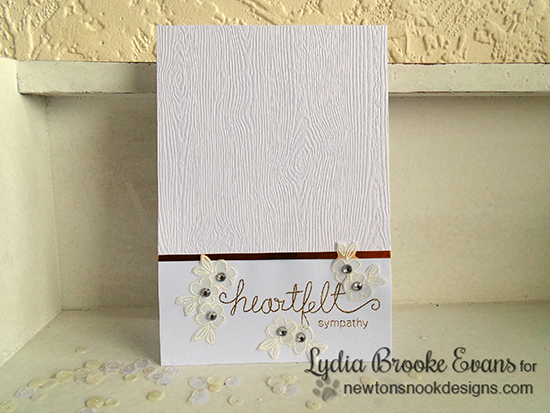 CAS sympathy card by Lydia Brooke for Newton's Nook Designs | Simply Sentimental Stamp Set