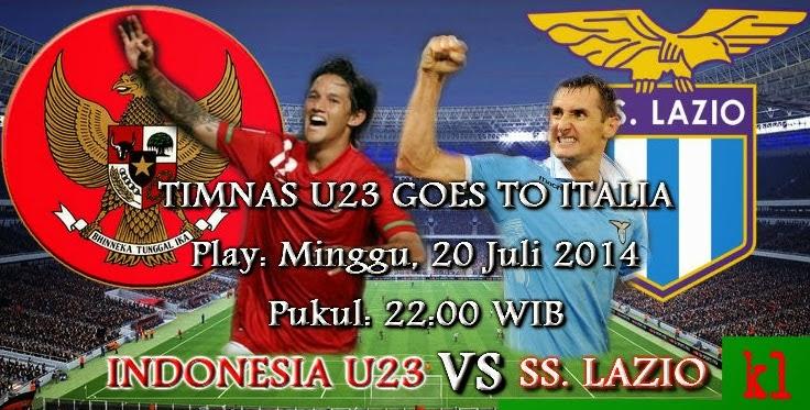 Hasil Skor Akhir: SS Lazio vs Timnas U23 (Indonesia Tur Italia) 20 Juli 2014