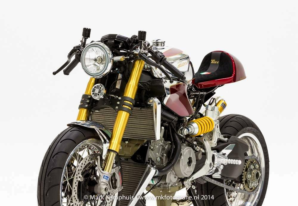 "Ducati Elite II Cafe Racer | Moto Puro Ducati Cafe Racer by Moto Puro named as ""Ducati Elite II Café Racer"" To build this Ducati Cafe Racer, the Dutch builders choose a Ducati 1199 Panigale S,"