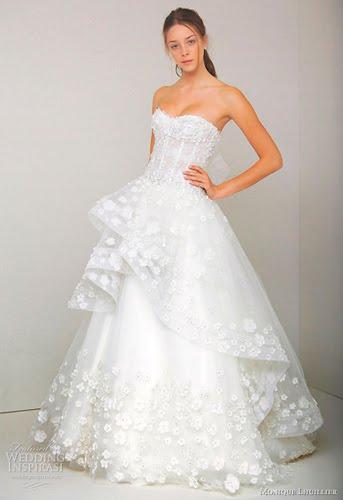 Свадебные платья 2011 года от monique lhuillier