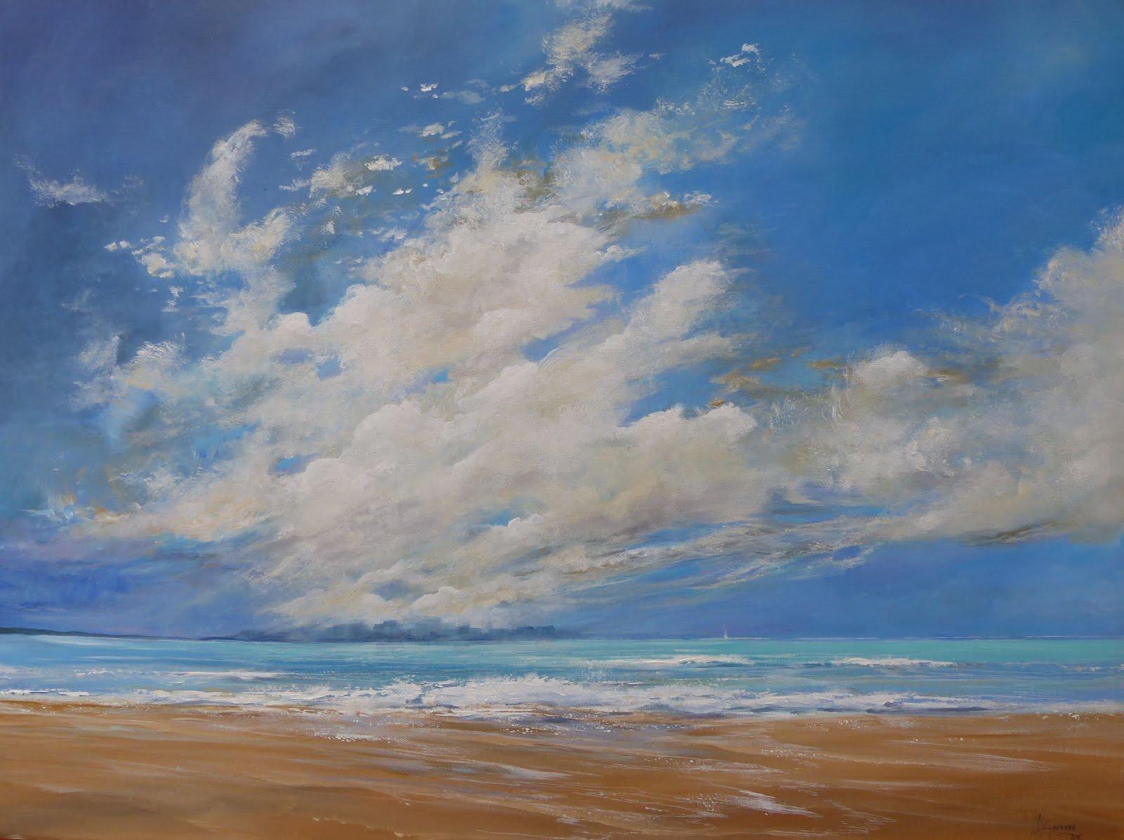 wolken op zee