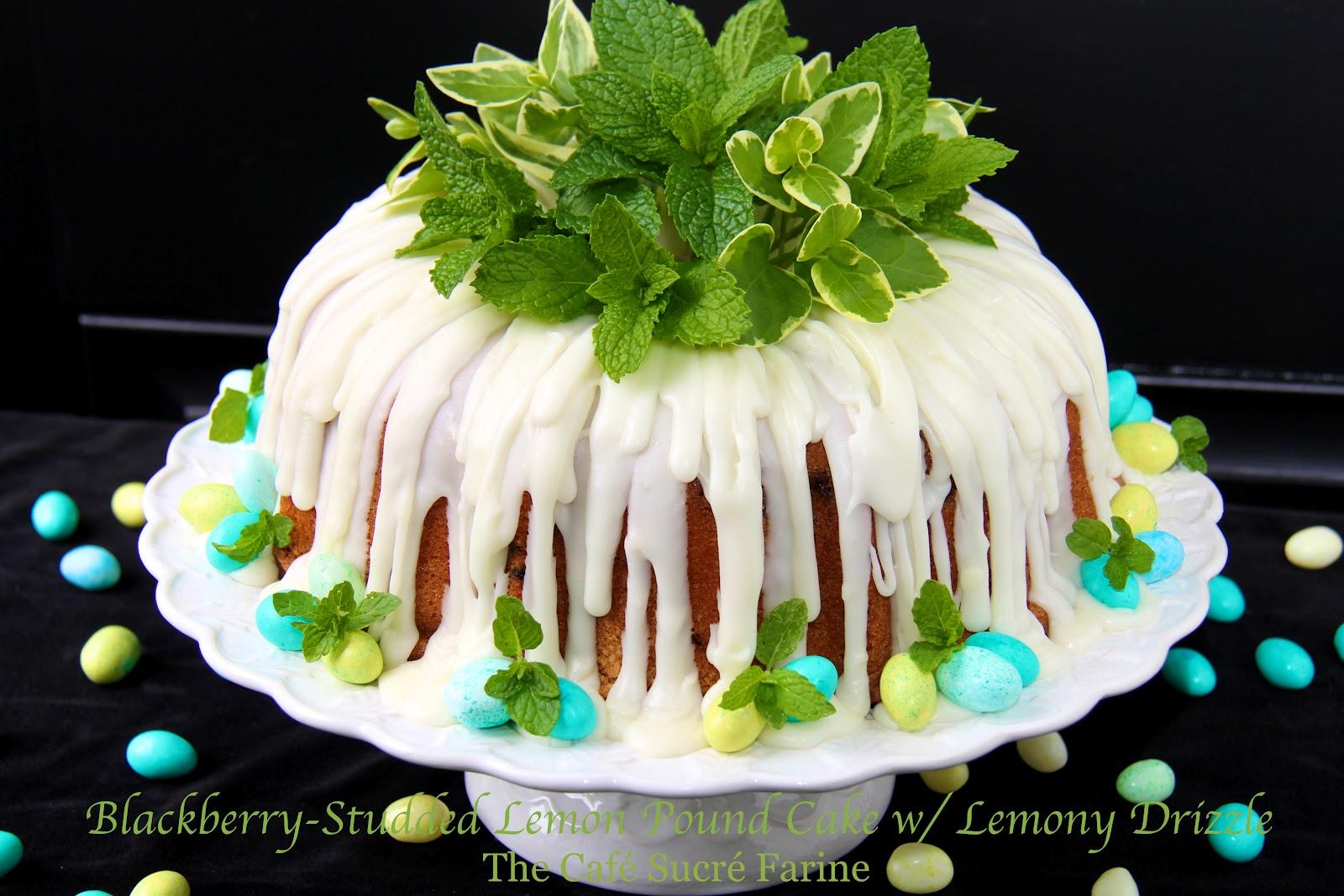 Blackberry Studded Lemon Pound Cake W Lemony Drizzle The Cafe