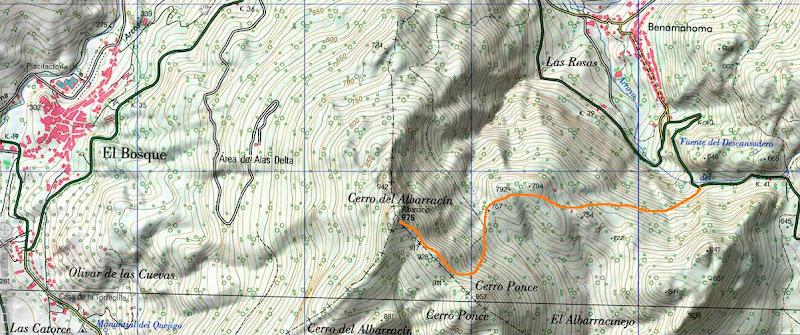 Mapa del itinerario