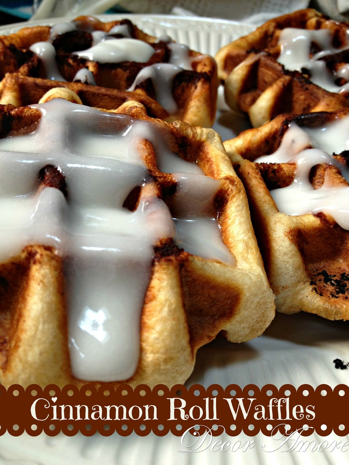Decor Amore: {Mother's Day} Cinnamon Roll Waffles