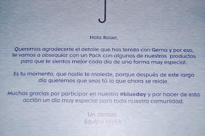 REGALOS BLUE DAY NIVEA