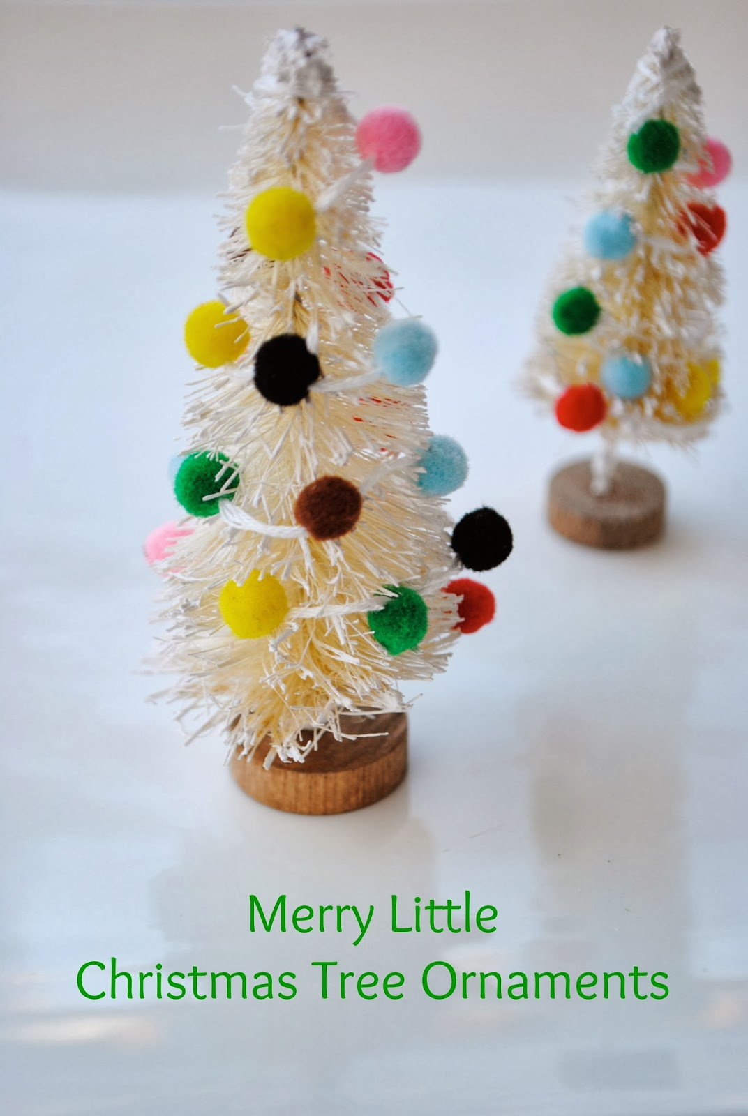 mini bottle brush tree ornaments handmade ornament no 5 - Bottle Brush Christmas Trees