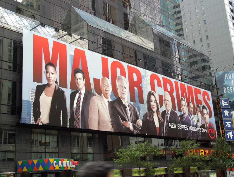 Giant Major Crimes season 1 billboard NYC
