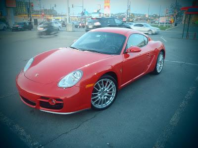 Porsche with Silver Mags