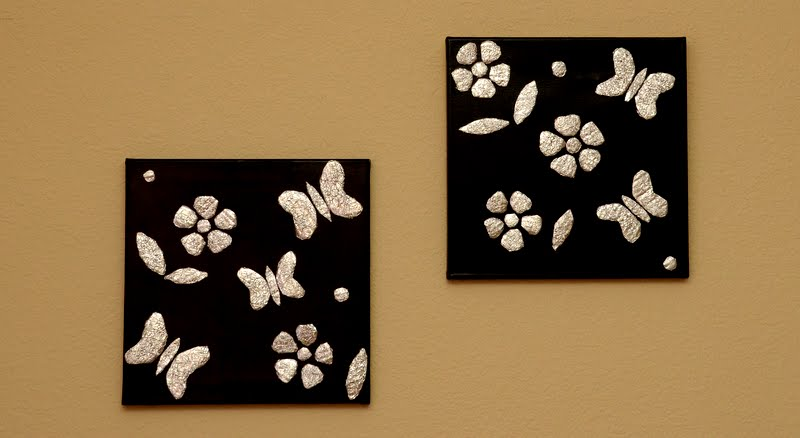 Made in Mommyland: Crushed aluminum foil wall art