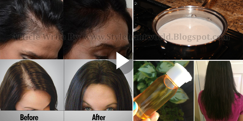 How To Grow Your Hair Long By Using Natural Things Style