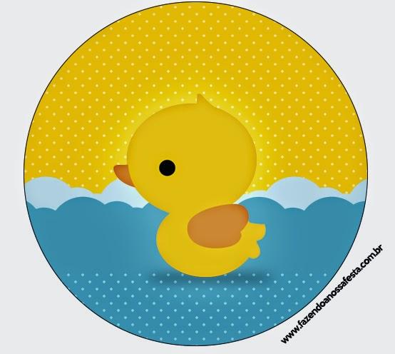 Vibrant image inside rubber ducky printable