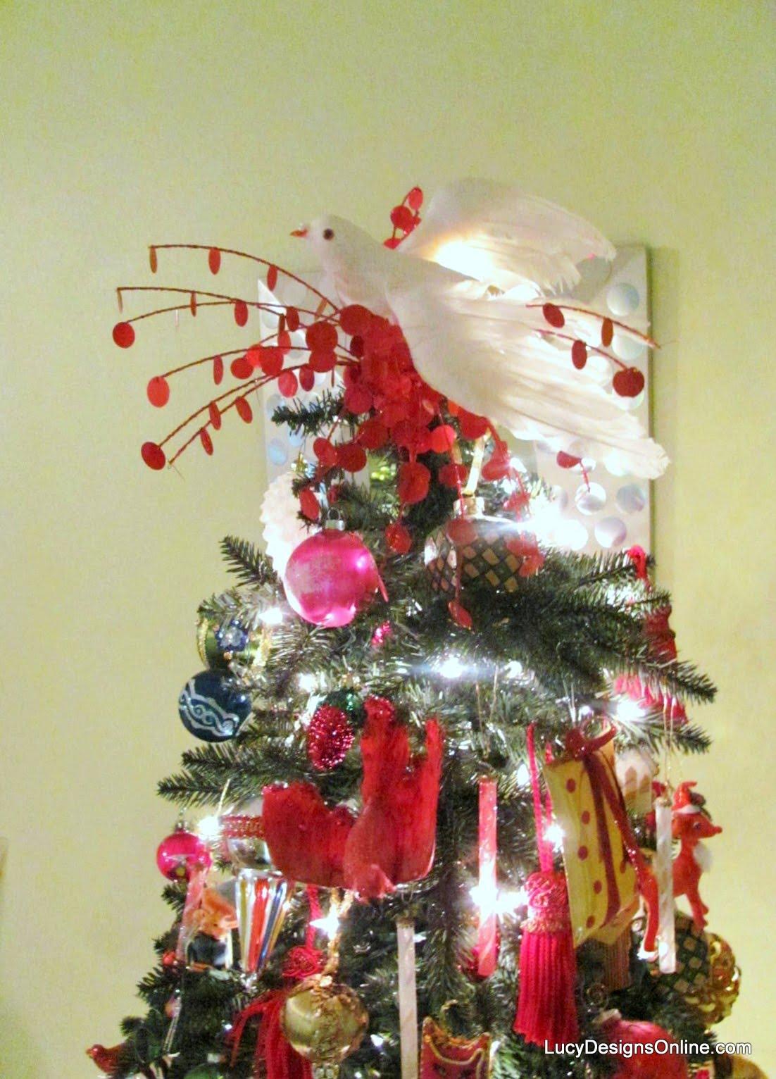 White dove christmas ornaments - Large White Dove Christmas Tree Topper