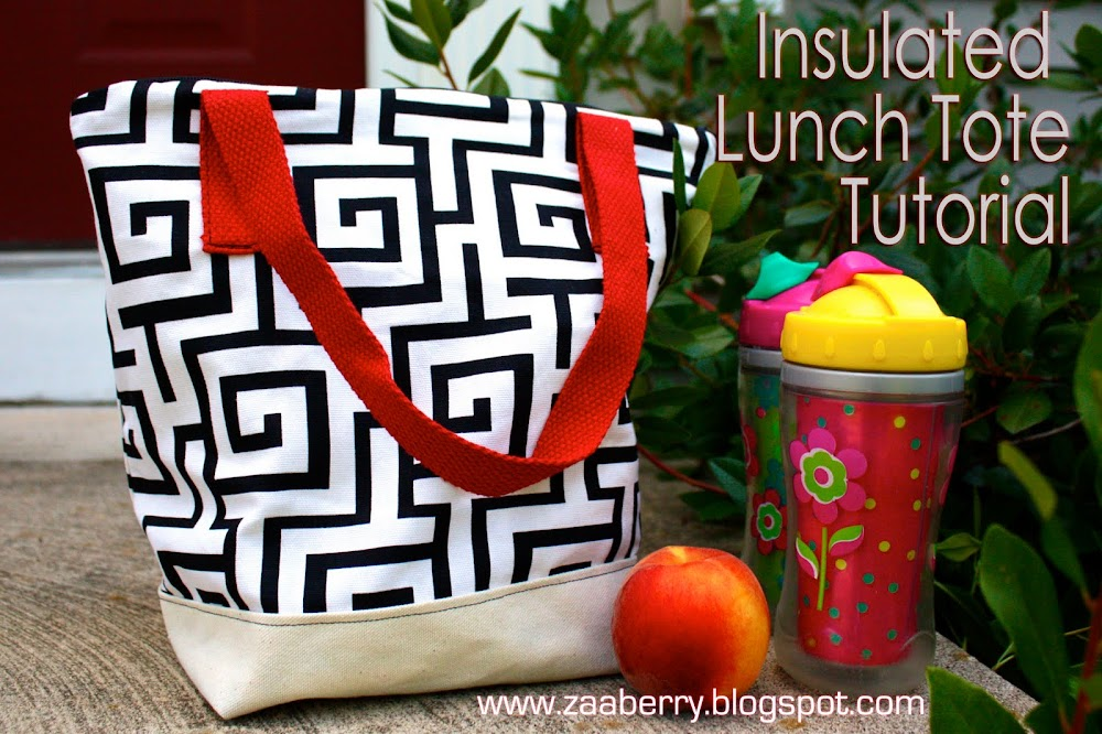 Insulated Lunch Tote Sewing Tutorial