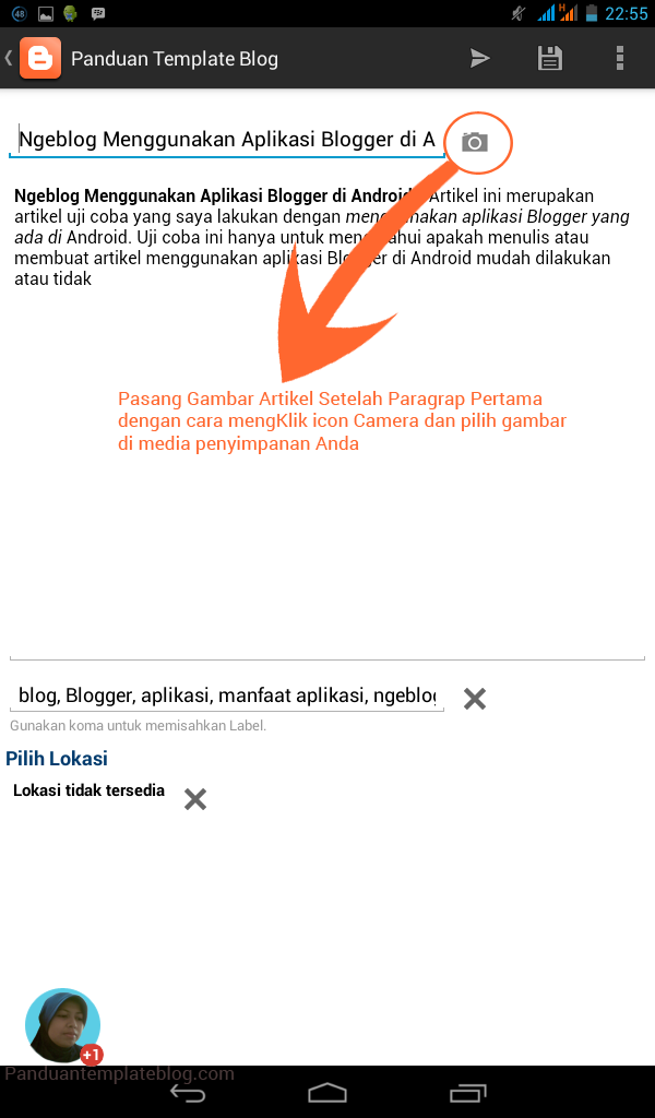 Cara Ngeblog Menggunakan Aplikasi Blogger di Android