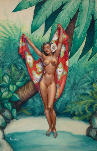 Hawaiian Pin-Up