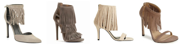 One of these pairs of fringe heels is from Candies for $44.99 (regular $64.99) and the other three are from designers for almost $500. Can you guess which one is the more affordable pair? Click the links below to see if you are correct!