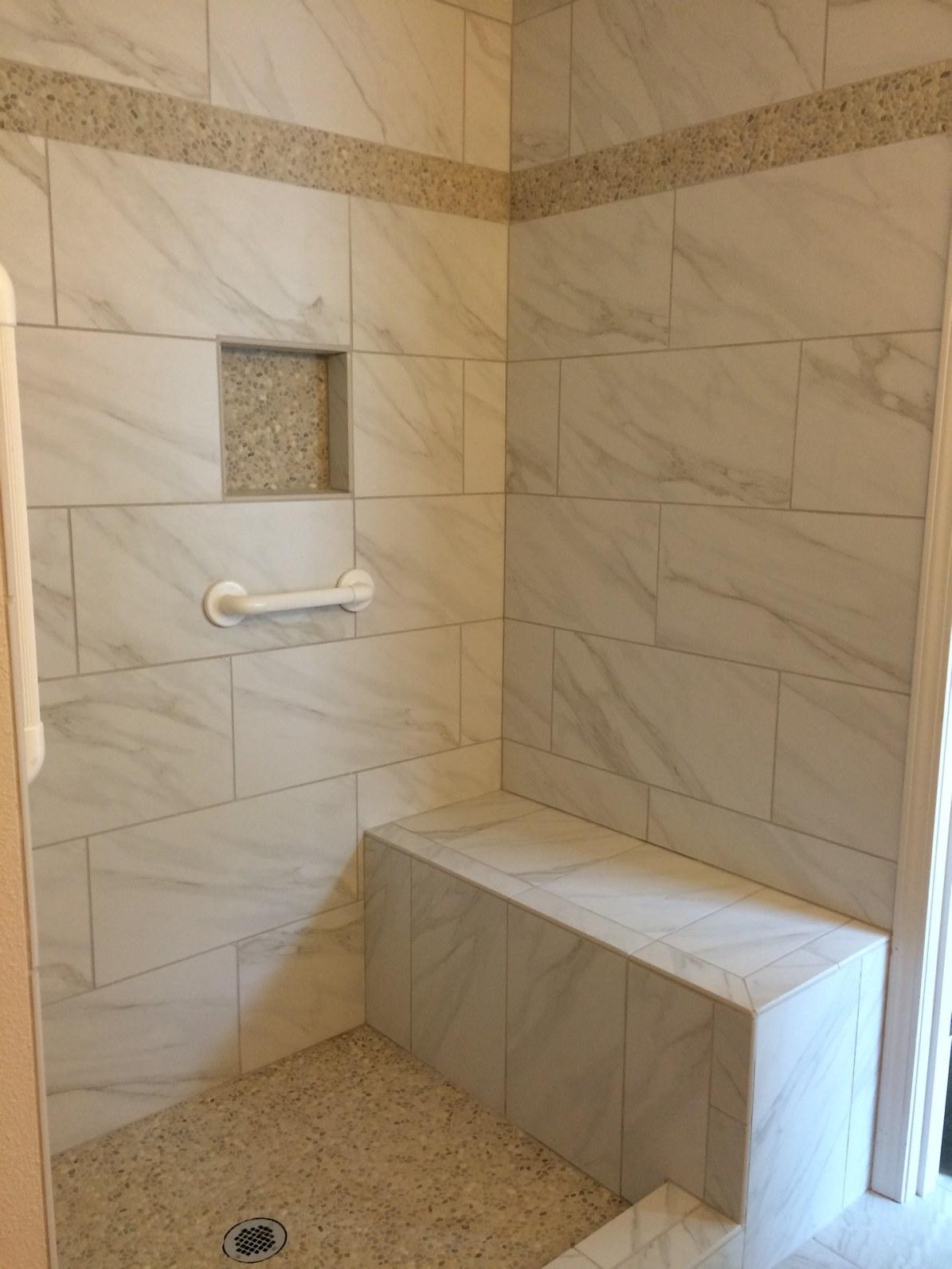 Custom Shower Wgrab Bars Giant Dons Flooring America