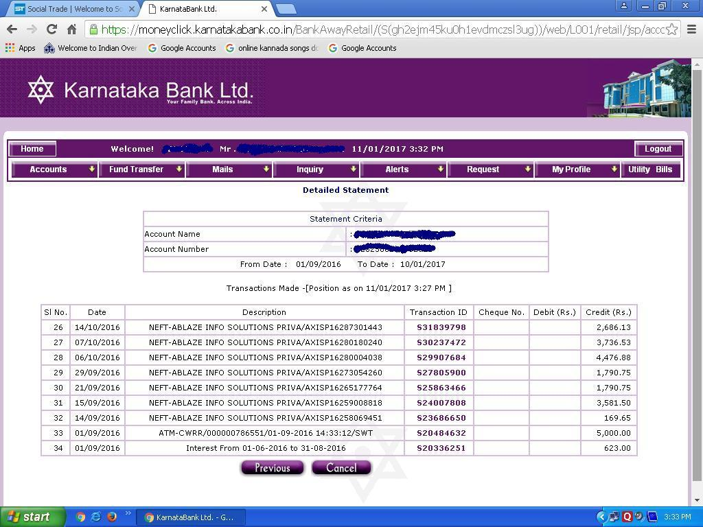 Payment directly credited in Bank Proof 3