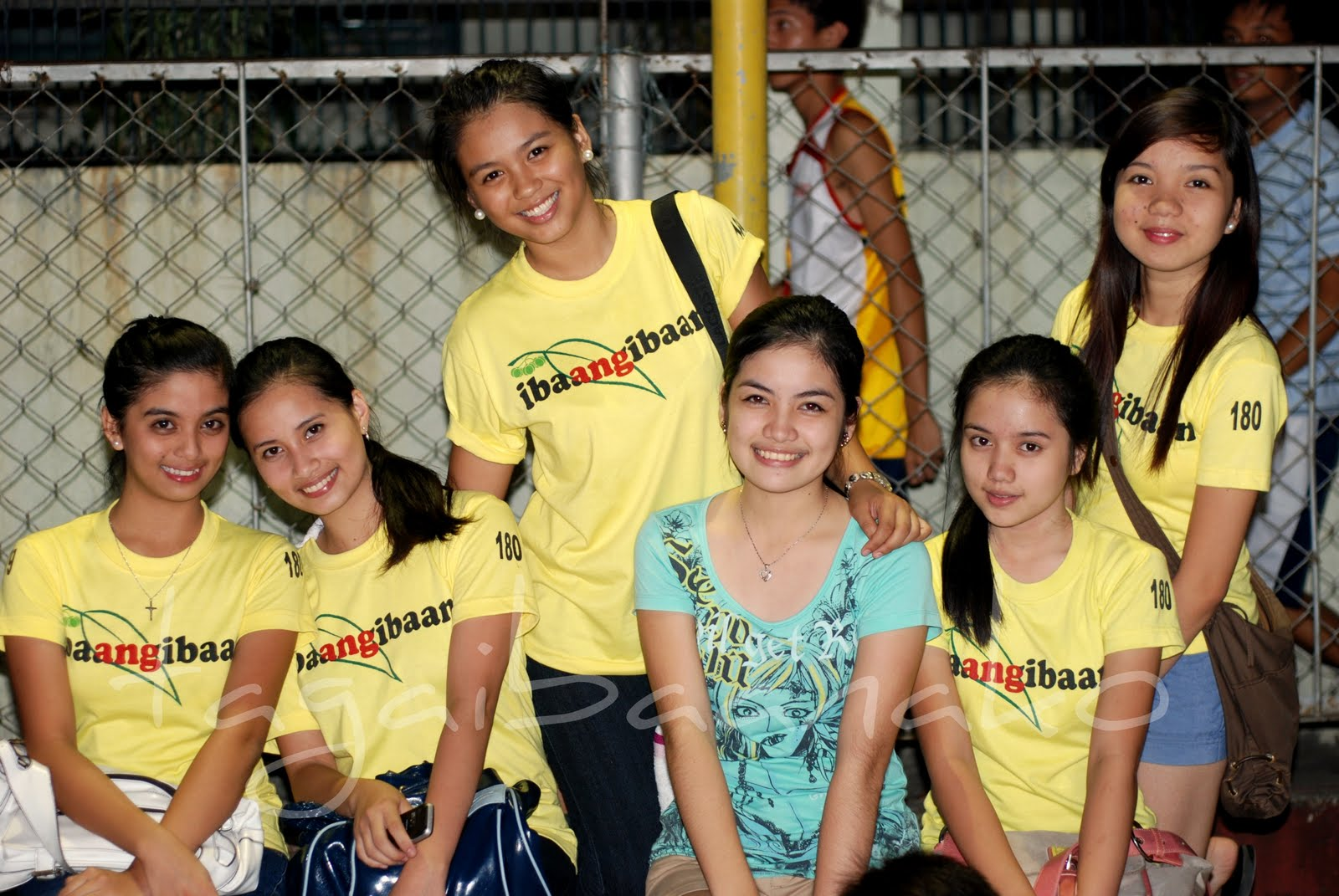 Some Mutya Ng Ibaan 2012 Candidates At Game 2 of San Agustin vs. Poblacion Championship Basketball Game in 2011.