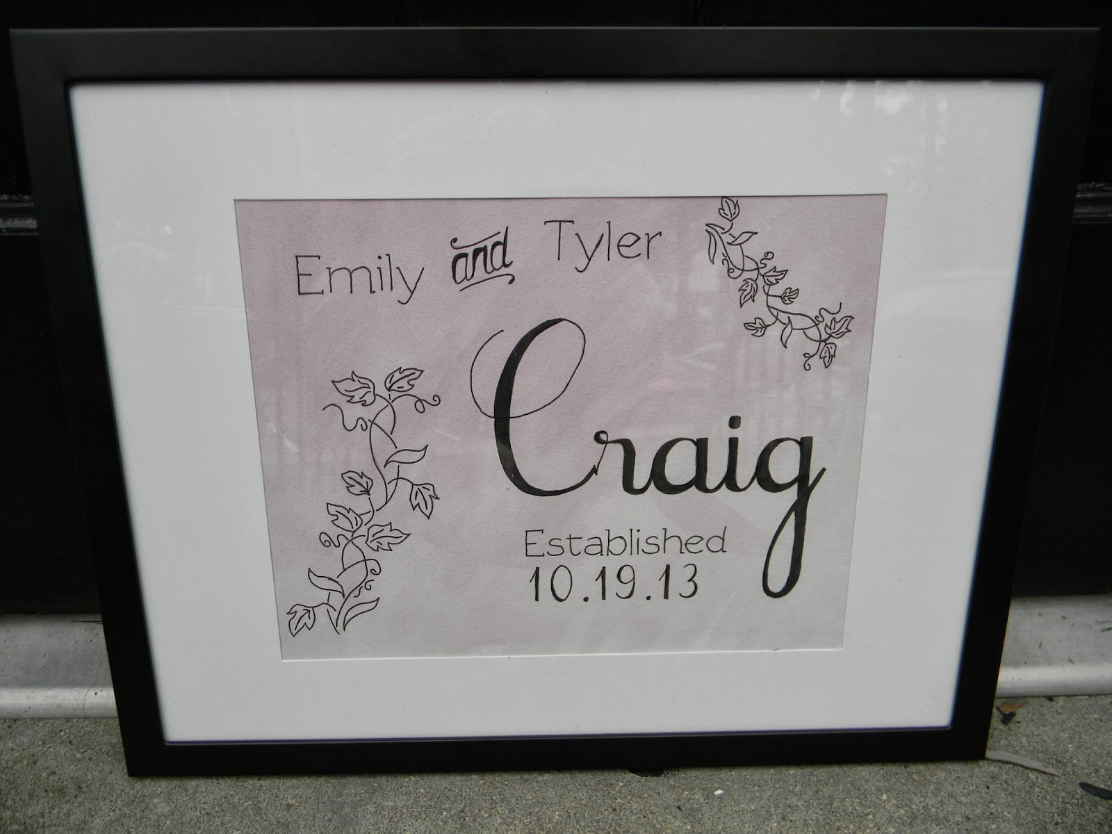 Wedding Gift Checks : This was our wedding gift to Emily and Tyler. Check out their wedding ...