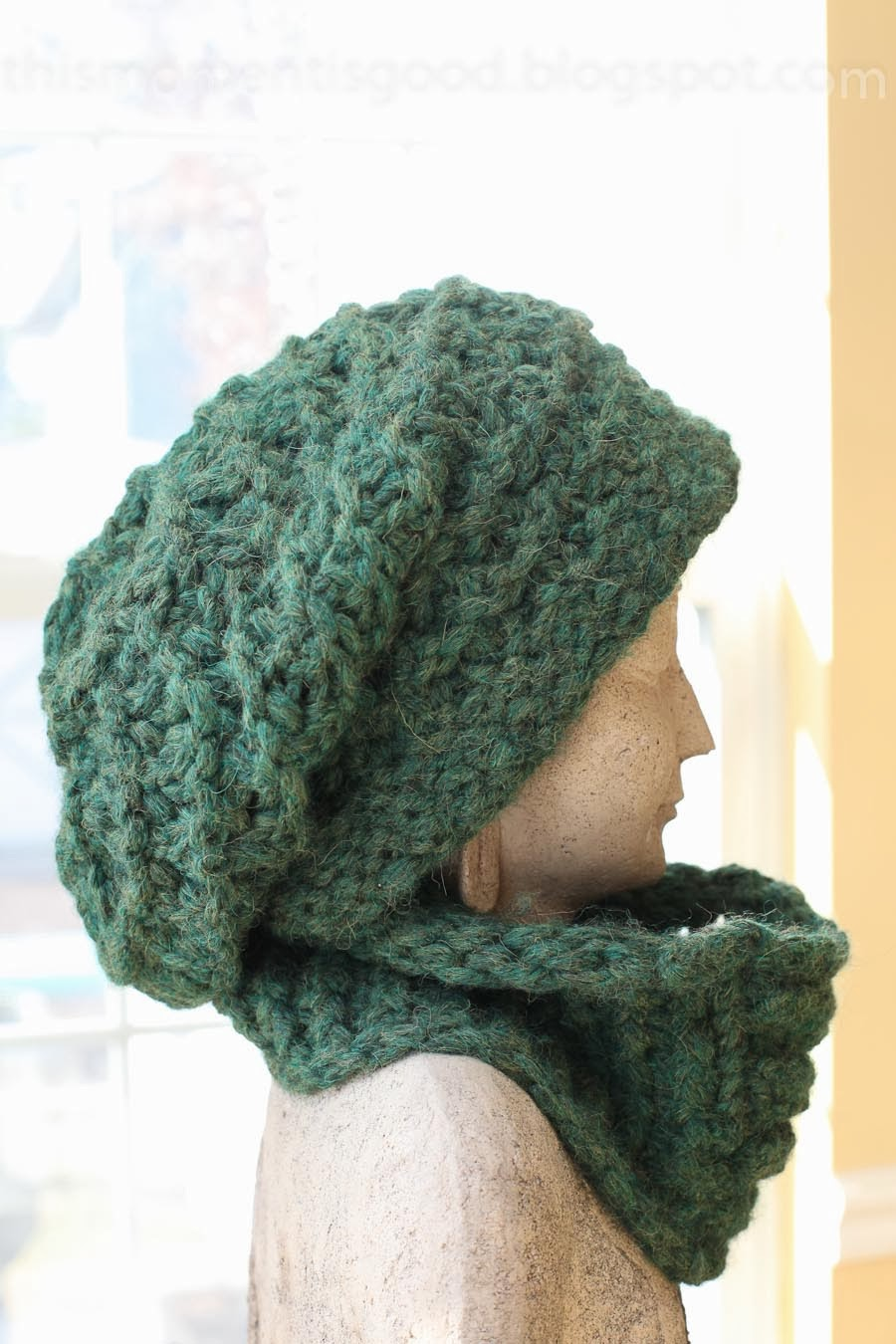 Knitting On A Loom Hat : Loom knit lace ridge hat cowl set knitting by