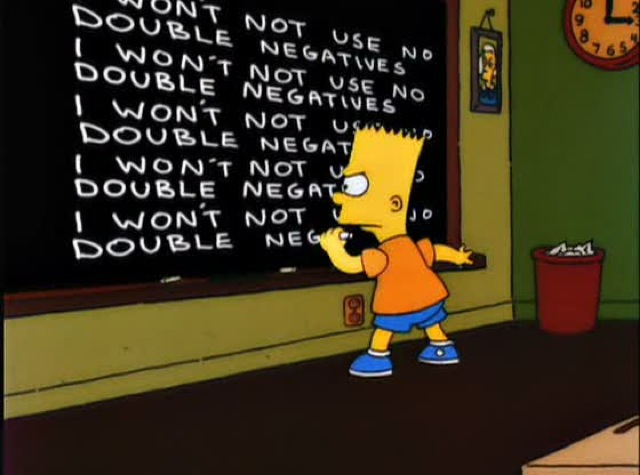 Double Negative: Can\'t Hardly, Barely, Scarcely