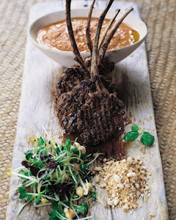 Barbecued Lamb Lollipops With Spiked Hummus And Nuts Recipe