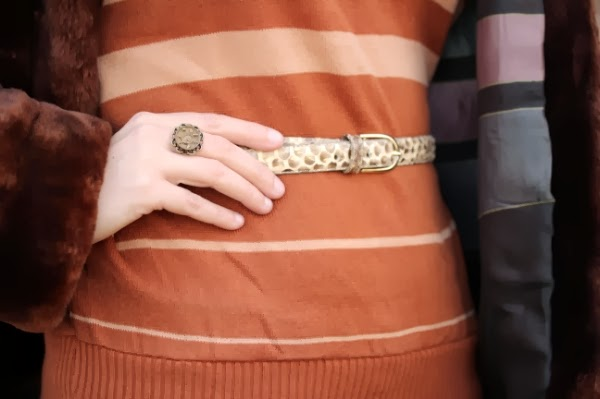 Vintage Snakeskin Belt Detail #vintage #fashion #1940s #50s #accessories
