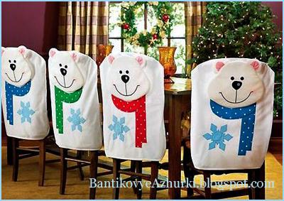 новогодний декор стульев_идеи