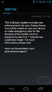 Verizon Wireless has finally released the Android 4.0.4 Ice Cream Sandwich system update for Samsung's Galaxy Nexus.
