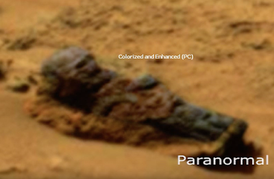 Decomposing Grey Alien Found On Mars 2015, UFO Sightings