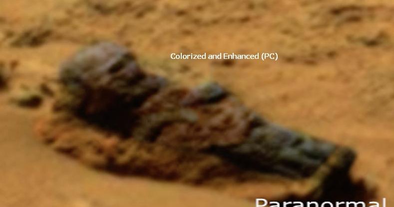 Decomposing Grey Alien Found On Mars 2015, UFO Sightings