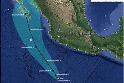 HURACAN BLANCA DE CATEGORIA 4 SE DIRIGE A LAS COSTAS DE BAJA CALIFORNIA