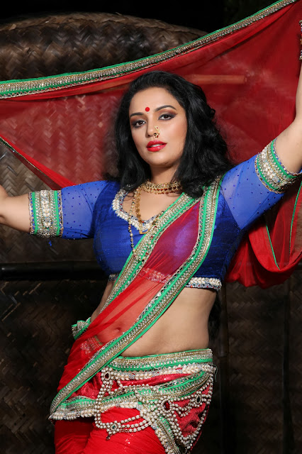 Actress Swetha menon Hot Navel Show Photos