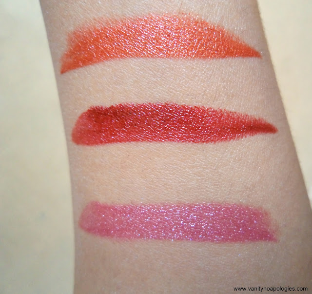 L'Oreal Paris L'OR Electric lipstick swatches