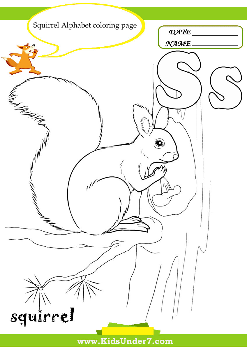 kids under 7 letter s worksheets and coloring pages