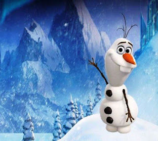 Gambar Olaf Frozen lucu