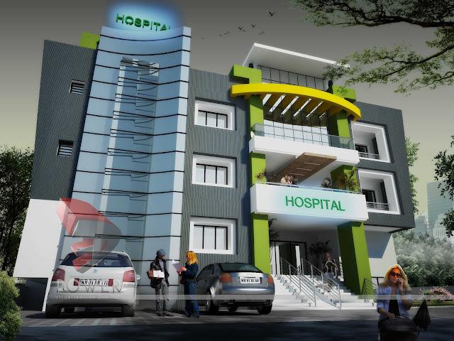 3d Hospital architecture design,3d architectural design