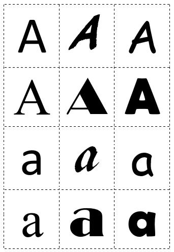 Hassle Free Housewife Alphabet Letter Font Sort Preschool Printable