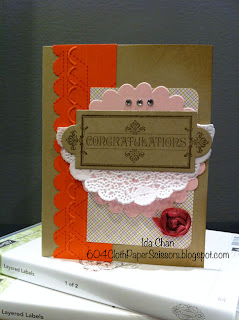 Layered Labels wedding card by Ida Chan Stampin' Up! Vancouver