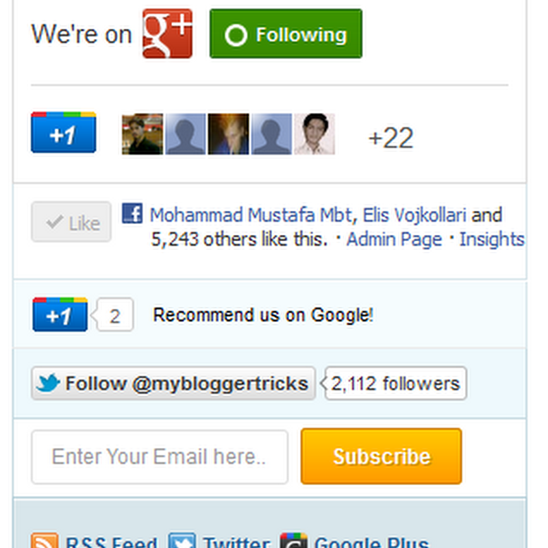 Mashable Share Widget For Blogger