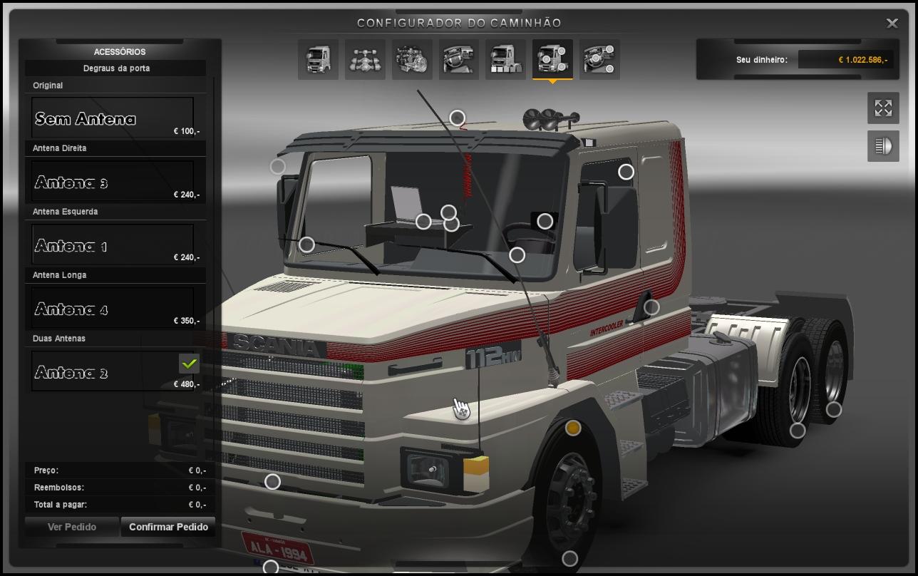 Euro truck 2 mods scania em breve acessorios