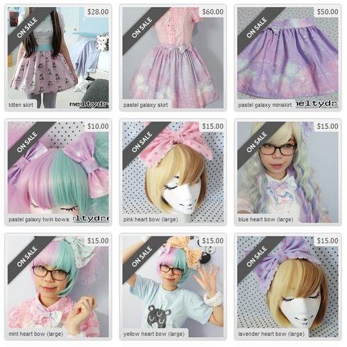 pizza-kei pizza kei cute kawaii lolita sweet creepy cute fairy-kei fairy meltydream pastel galaxy sale