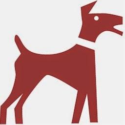 un dibujo de un perro