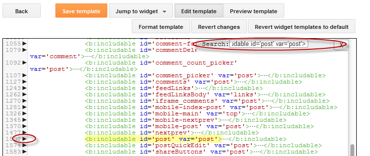 How to add an image next to blogger post title best seo tips after you found it click on the left arrow next to it to expand the widgets code pronofoot35fo Choice Image