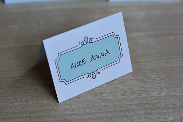 Candid image within printable place card