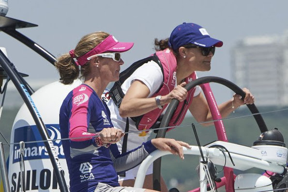 Princess Victoria Attends Volvo Ocean Race In Portugal, Day 2