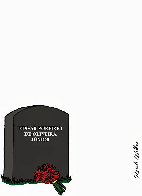 Charge deste sábado (21) é homenagem ao policial militar Edgar Porfírio de Oliveira Júnior, morto após ser atropelado por carro durante uma blitz