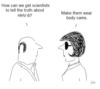 cartoon,cartoons, henri agut, hhv-6, human herpesvirus six, cfs, aids, asfv, beldekas, gallo
